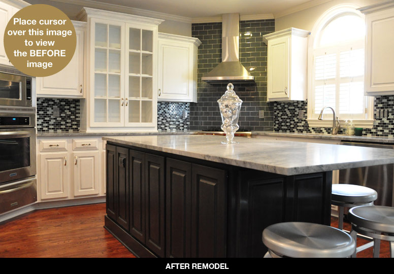 Kitchen Before And After Makeover By: Brush Strokes By Mary Anne