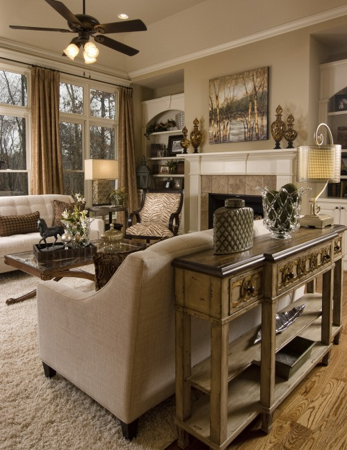 Eclectic Atlanta Great Room Makeover Home