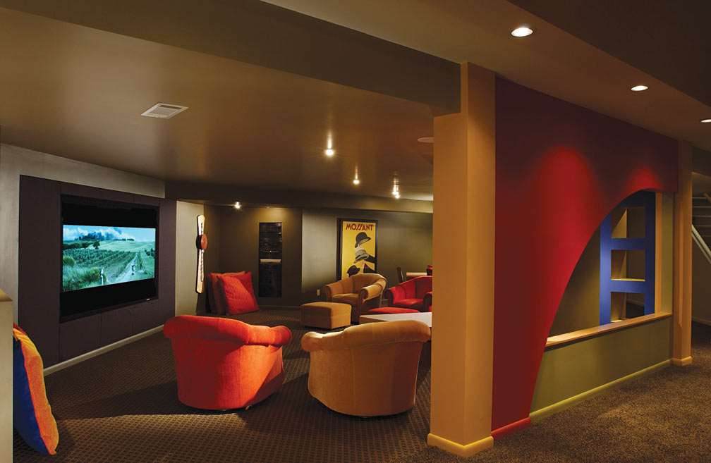 Basement designs and trends atlanta home improvement for Coolest basements