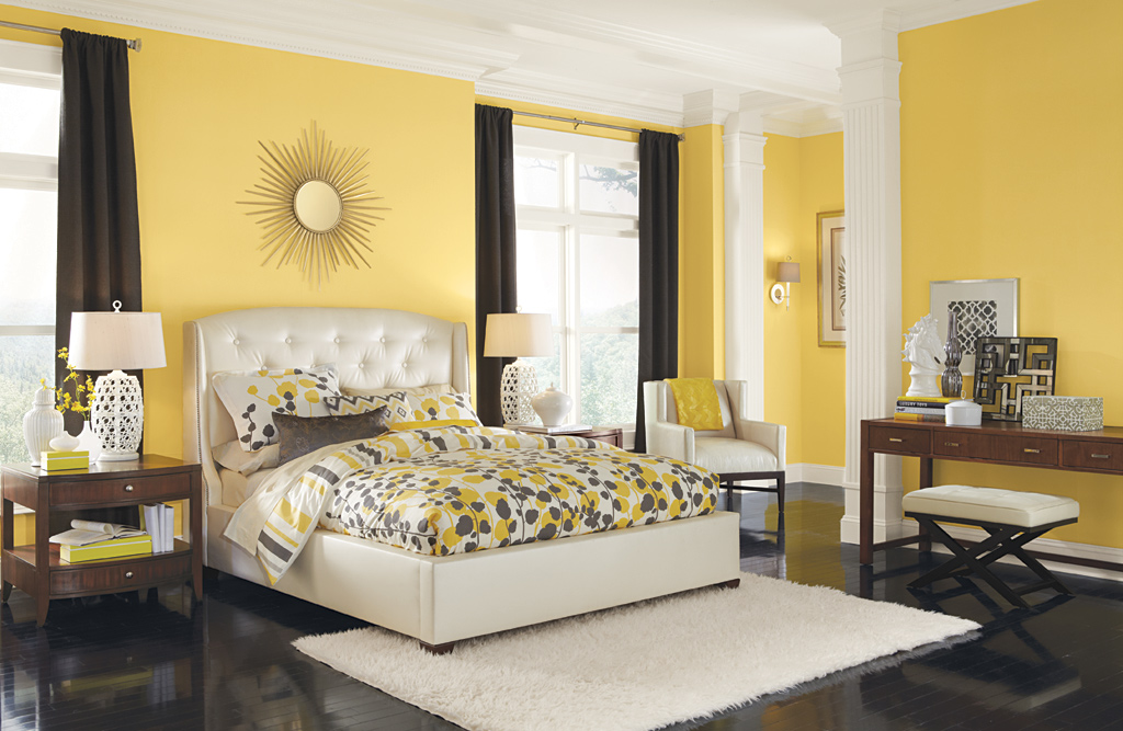 Yellow paint for bedroom modern interior paint and home decor color matching tips bloombety - Beautiful contemporary bedroom design ideas for releasing stress at home ...