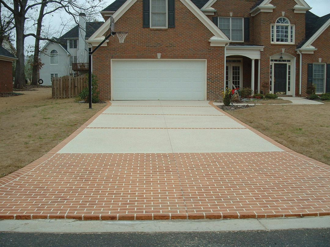 Atlanta driveway and walkway ideas atlanta home improvement for Driveway apron ideas