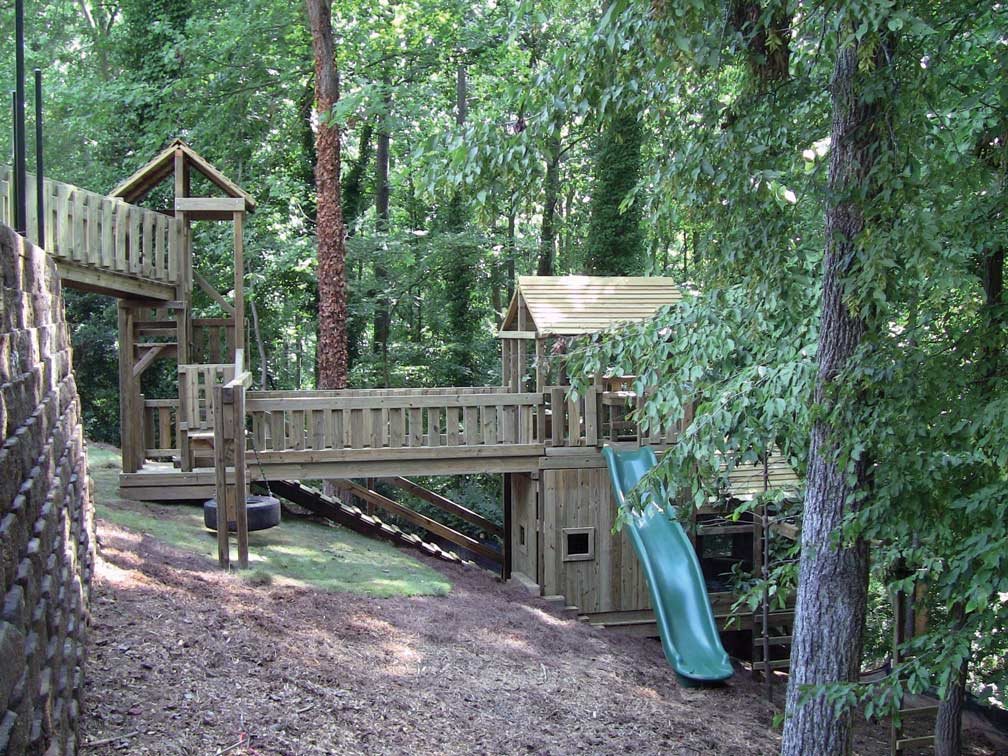 Custom Backyard Play Structures : Playhouse courtesy of Dreamtime Outdoors