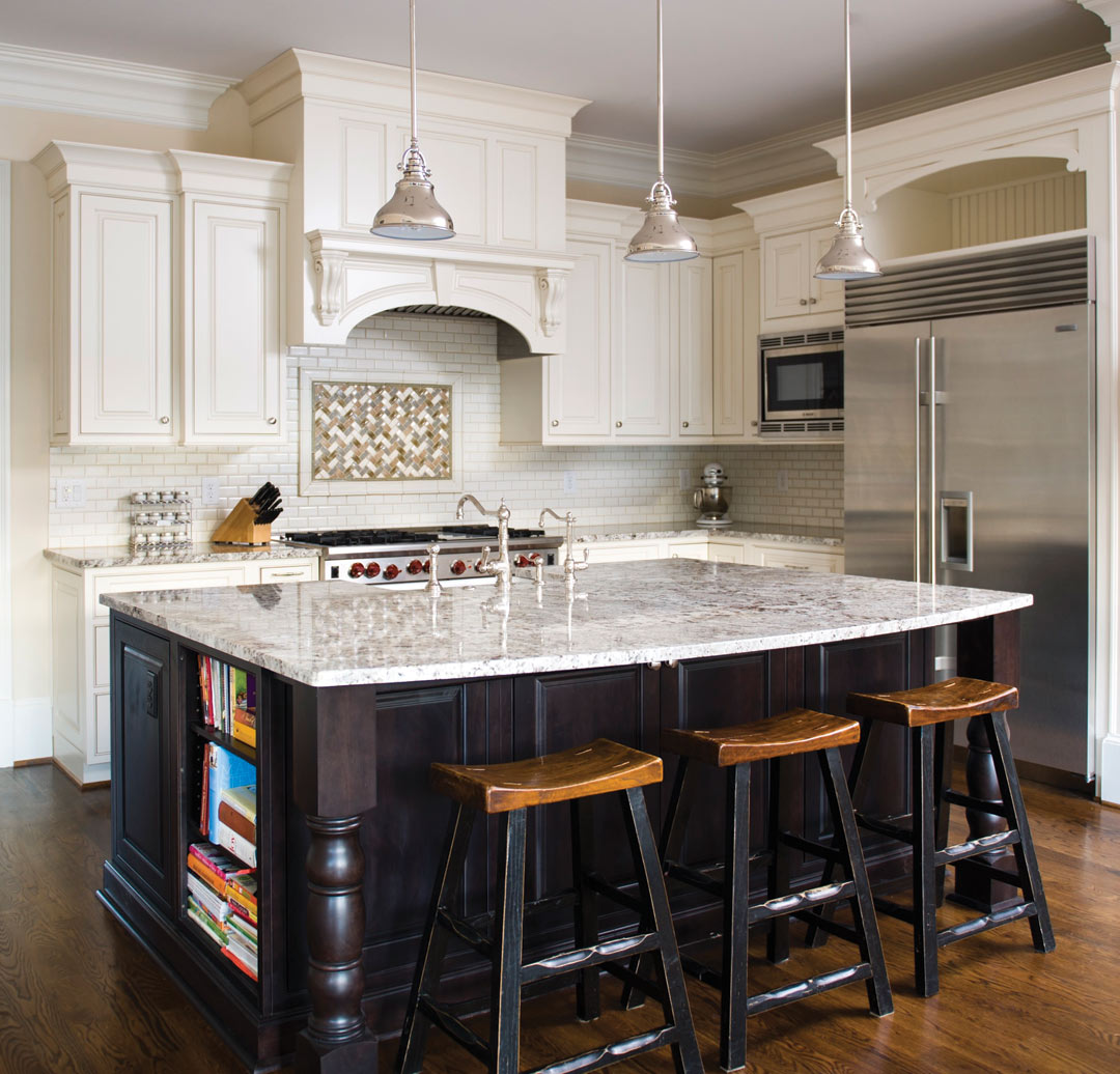 Kitchen Remodel Features Island With Seating, Cabinets For Storage,  Stainless Steel Appliances And More