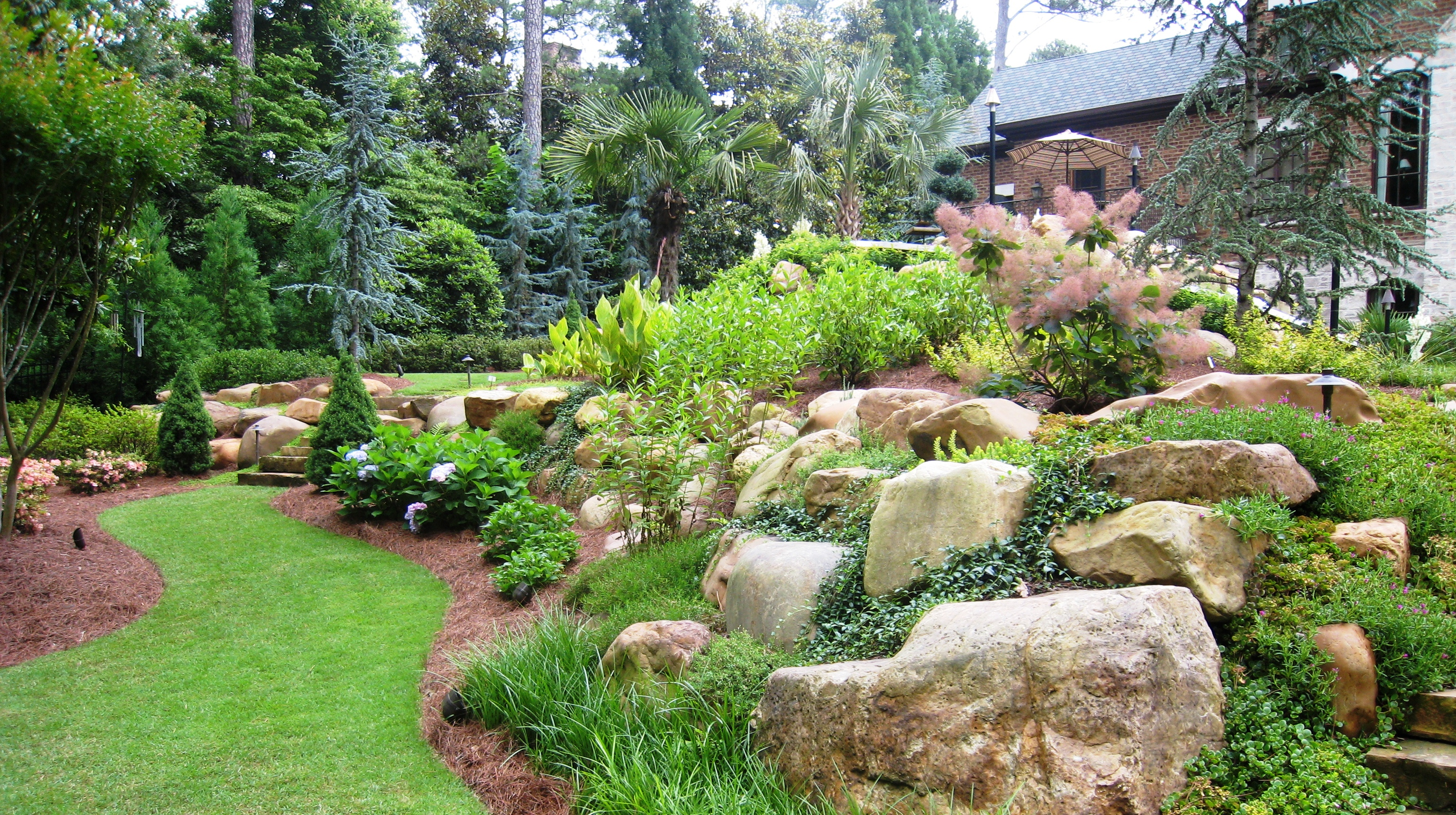 Burm Created Using Large Natural Boulders With A Combination Of