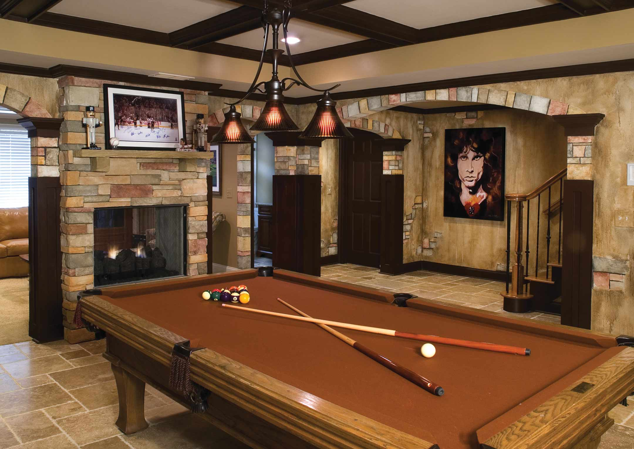 Interactive basement design home decoration live Man cave ideas unfinished basement