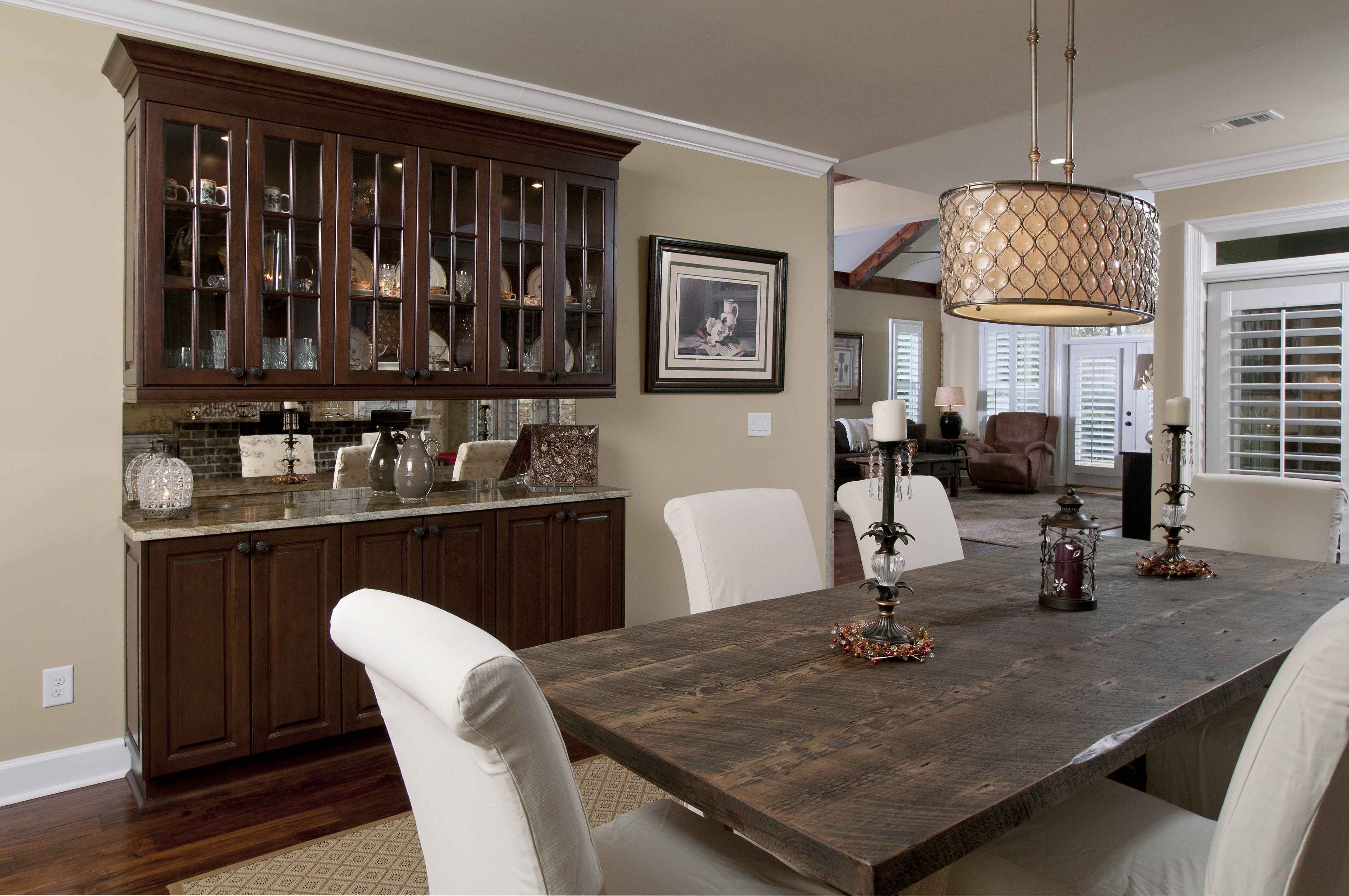 Dining Room Glass Cabinets