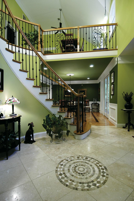 Spiral Staircase Foyer