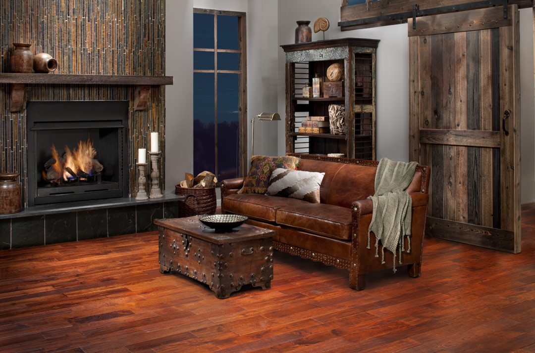 timberclick cognac oak locking solid hardwood in living room - Hardwood Floors Living Room