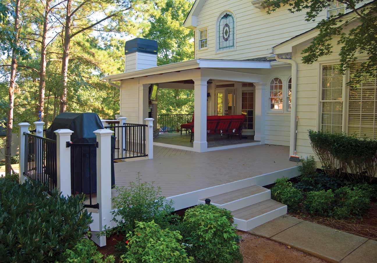 pvc decking by peachtree decks and porches
