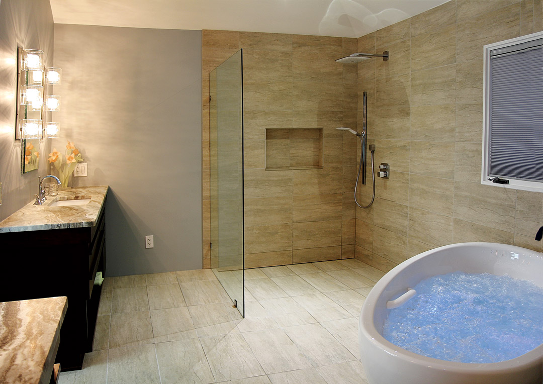 Open Shower Viewing Gallery