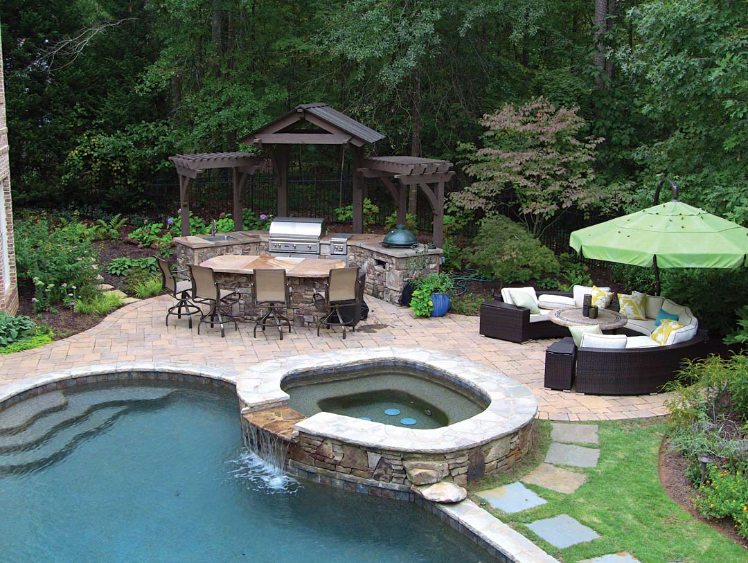 Grass and ground cover atlanta what to choose for your for Pool with outdoor kitchen