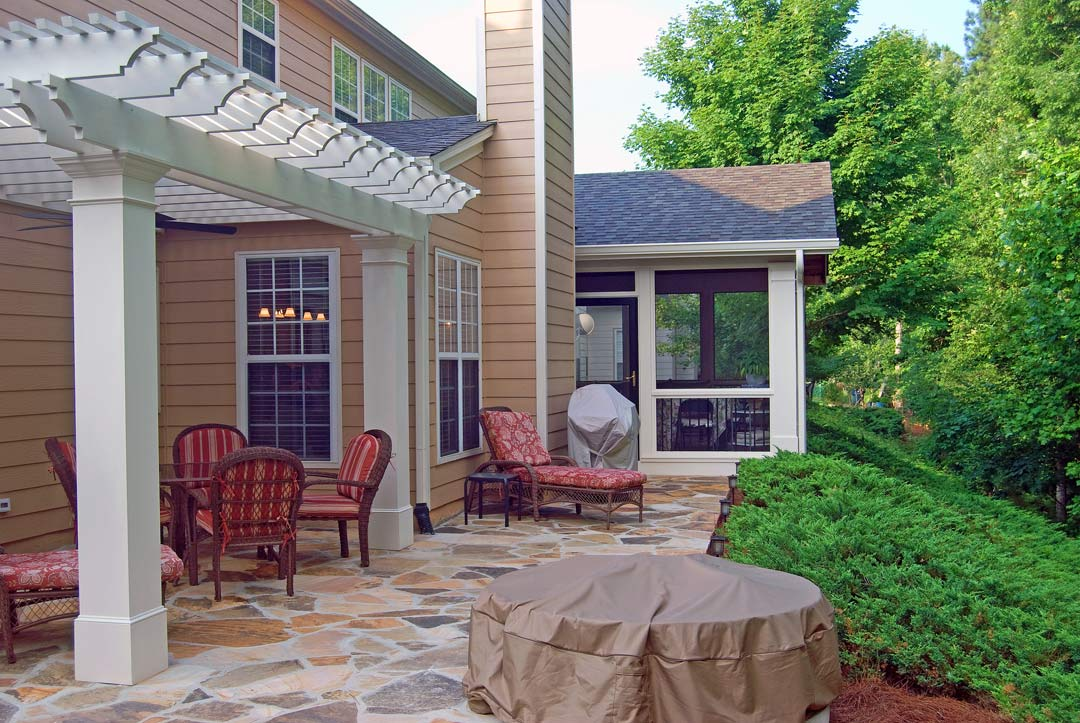 pergola patio cover by peachtree porches and decks