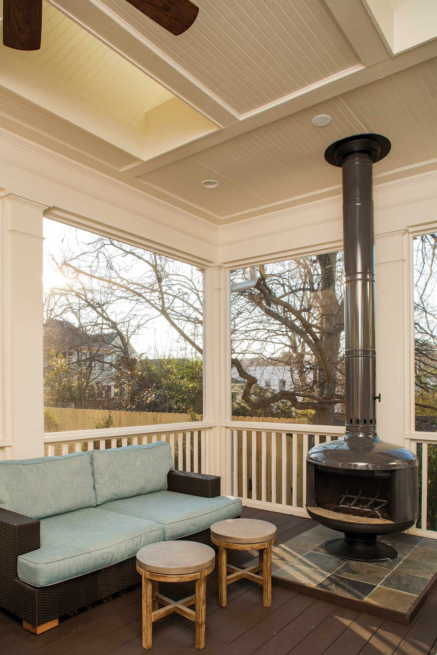 Decatur whole house renovation atlanta home improvement for Screened in porch fireplace ideas
