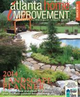 Cover of magazine of a landscape with a pool, hardscape and a cabana