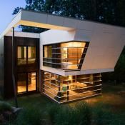 back view of modern design home