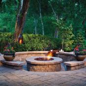 Belgard patio paves and firepit