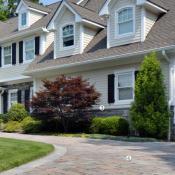 Home exterior, siding, driveway, garage doors, windows
