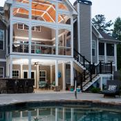 Patio, deck, pool remodel