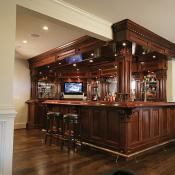 Custom Bar in Basement