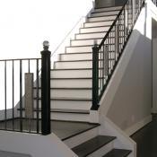 Glass knob stairway design