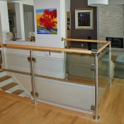 Glass railing design