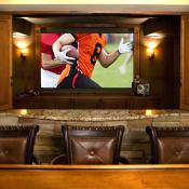 Home Theater bar and big screen TV