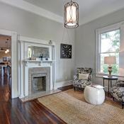 Interior view of remodeled cottage in Candler Park