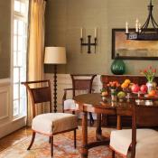 Dining room with the lighting as the focal point