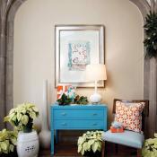 Interior design featuring hues of ocean blues