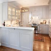 Very functional kitchen with ambient, accent and task lighting