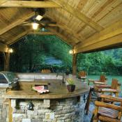 Outdoor kitchen by Decks & More