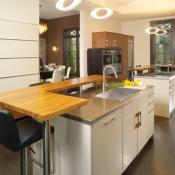 Kitchen design with many storage options