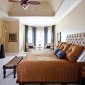 Master suite, dome tray ceiling
