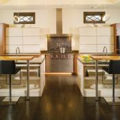 Kitchen with dual work stations
