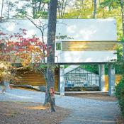Modern home that was rebuilt to be above flood plain