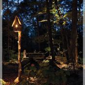 Bird house outdoor light
