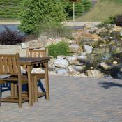 Patio with water feature