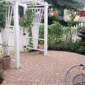 White picket fence with running plants