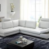 White leather Regatta sectional