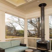 porch, chimney