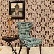 Home design trend featuring a chair with honeycomb fabric and clean lines and repositionable wallpaper