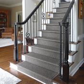 Metal spindle stairway