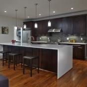 Kitchen design with open floor plan