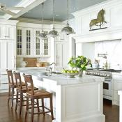 White kitchen granite countertop