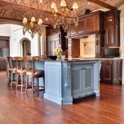 Wide plank hardwood flooring