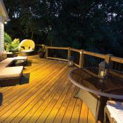 Wrap-around deck