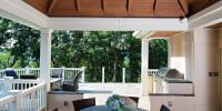 Deck with outdoor kitchen