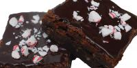 brownies with peppermint ganach