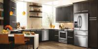 Kitchen remodel and design with stainless steel appliances