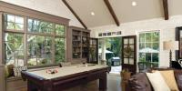 Beautiful interior remodel with open floor plan and large floor to ceiling windows